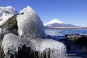 きらら湖岸の氷