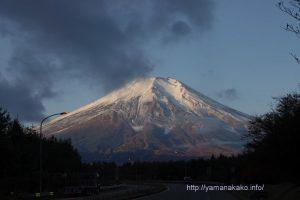 朝見えた富士山