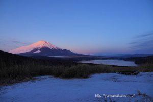 ピンク色の富士山