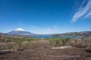 パノラマ台から望む山中湖と富士山