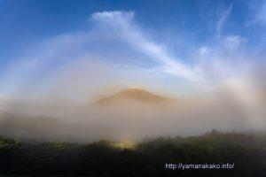 白い虹とブロッケン現象